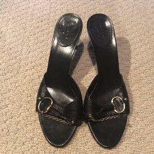Gucci black horsebit mule size 9